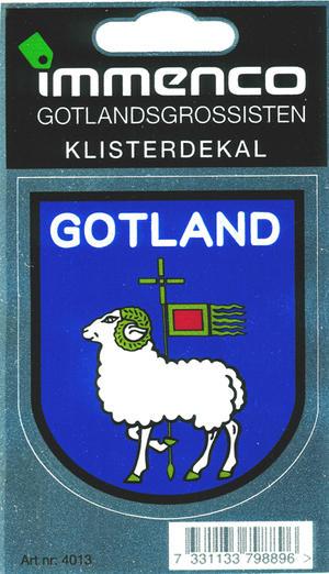 Klisterdekal Gotlandsvapen 25st/fp Pris 11.-/st