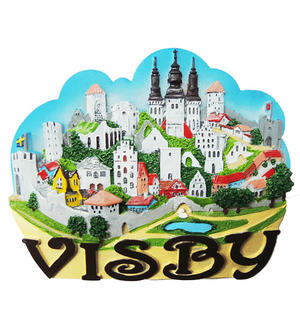 Magnet Visby collage 24st Pris 16.-/st