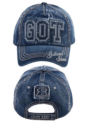 "Keps denim ""GOT"" 10st/förp Pris 69.-/st"