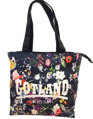 """Väska liten """"Gotland"""" blommor 5st/förp Pris 59.-/st"""