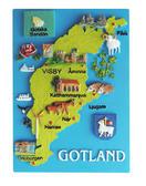 Magnet Gotland karta 24st/fp Pris 15.-/st
