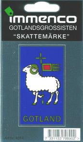 "Dekal ""Skattemärke"" Gotland 25st/fp Pris 11.-/st"