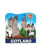 Magnet Gotland Torn/kyrka 24st/fp Pris: 15,00.- /st
