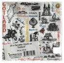 "Servett ""Gotland teckning"" 20-pack 24st/fp Pris 17.-/set"